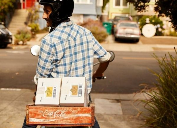 Headed out for local deliveries in Berkeley, California