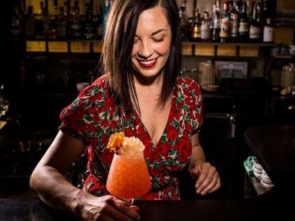 Arctic Willow by Eryn Reece : whisky, Hibiscus-Tangerine Tea, Oloroso Sherry, Lemon, Cherry, Almond, Ginger, Mole Bitters.