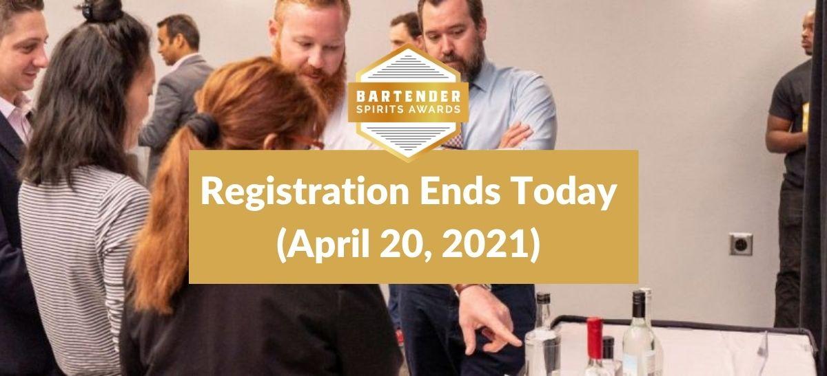 Photo for: 2021 Bartender Spirits Awards Registration Ends TODAY