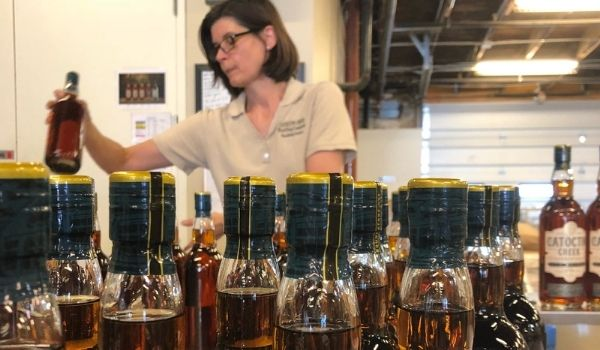 Becky Harris at the Catoctin Creek Distillery, Photo credit: Edward Harris