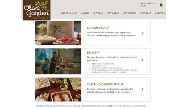 Olive Garden Website