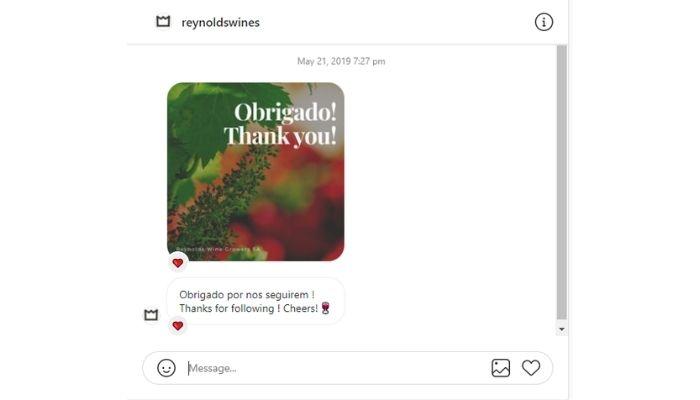 Reynolds Wines Instagram