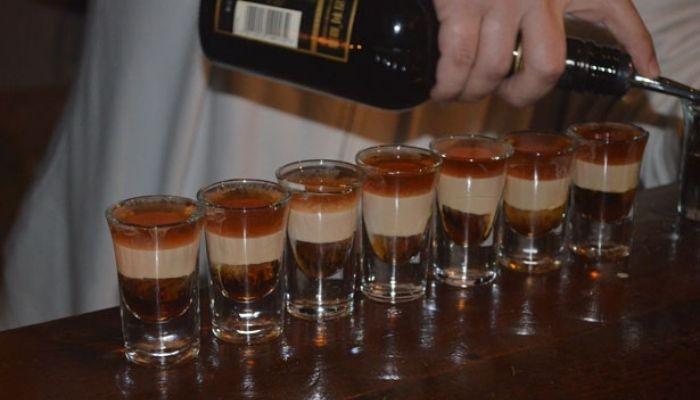 B-52 cocktail Shots - Layered drink