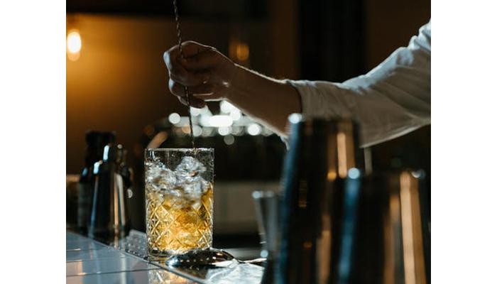 Bartender creating a drink