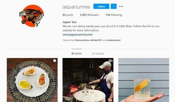 Jaguar Sun Miami Instagram