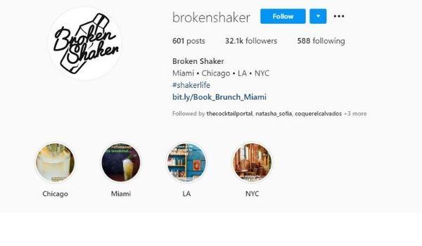 BROKEN SHAKER Miami Instagram