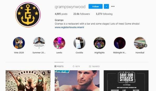 Gramps Wynwood Instagram